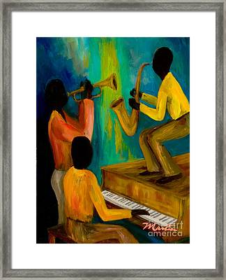 Little Jazz Trio I Framed Print by Larry Martin