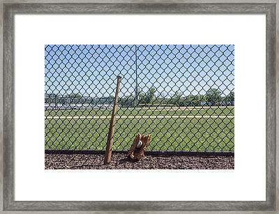 Little League Framed Print by Bill Cannon