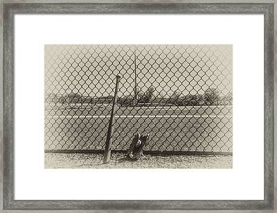 Little League In Sepia Framed Print by Bill Cannon