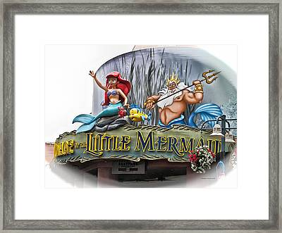 Little Mermaid Signage Framed Print by Thomas Woolworth