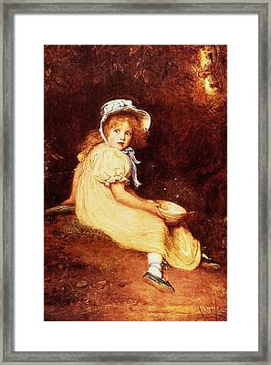 Little Miss Muffet Framed Print by MotionAge Designs