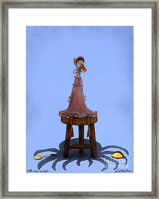 Little Miss Muffet... Framed Print by Will Bullas