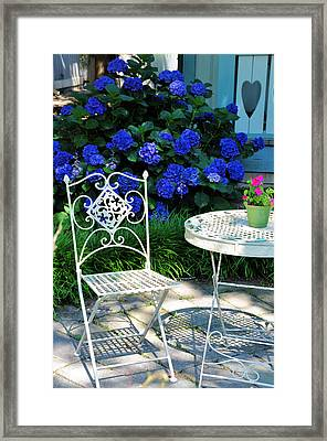 Little Patio Chair Framed Print by Jan Amiss Photography