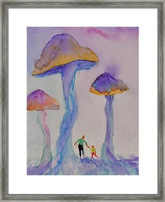 Little People Framed Print by Beverley Harper Tinsley