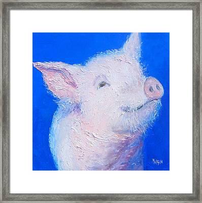 Little Piglet Framed Print by Jan Matson