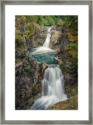 Little Qualicum Falls Framed Print by Carrie Cole