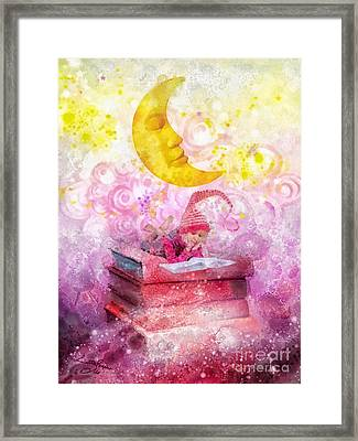 Little Reader Framed Print by Mo T