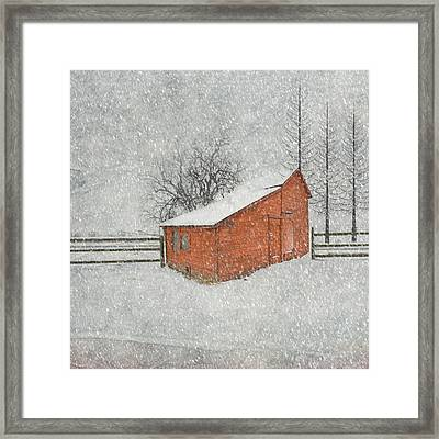 Little Red Barn Framed Print by Juli Scalzi