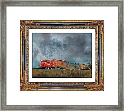 Little Red Caboose  Framed Print by Betsy Knapp