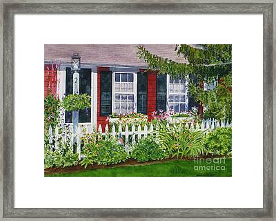 Little Red Cottage Framed Print by Karol Wyckoff