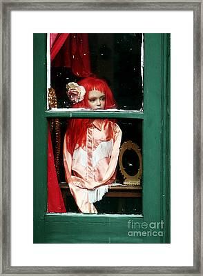 Little Red-haired Girl Framed Print by John Rizzuto