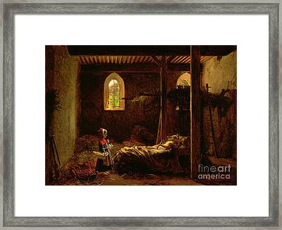 Little Red Riding Hood Framed Print by Fleury Francois Richard