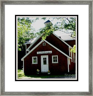 Little Red Schoolhouse Framed Print by Gail Matthews