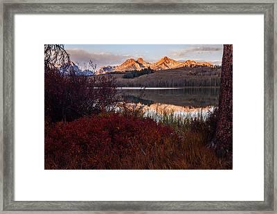 Little Redfish Lake Autumn Framed Print by Vishwanath Bhat