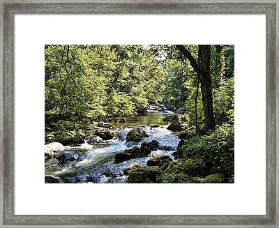 Little River Rapids Framed Print by Cricket Hackmann