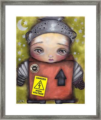 Little Robot Framed Print by  Abril Andrade Griffith