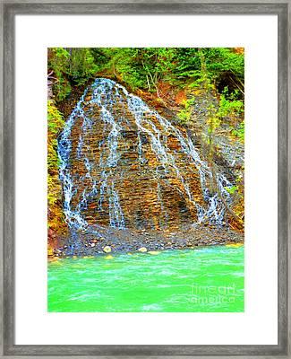 Little Rock Waterfall Framed Print by John Kreiter