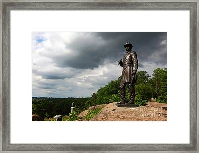 Little Round Top Hill Gettysburg Framed Print by James Brunker