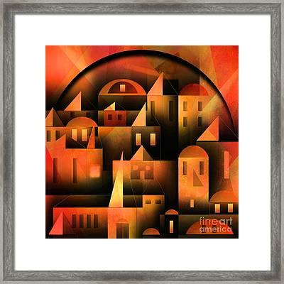 Little Shining City Framed Print by Franziskus Pfleghart