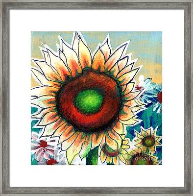 Little Sunflower Framed Print by Genevieve Esson