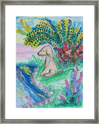 Little Sweet Pea Framed Print by Diane Pape