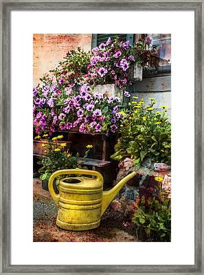 Little Swiss Garden Framed Print by Debra and Dave Vanderlaan