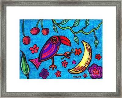 Little Toucan Framed Print by Sarah Loft