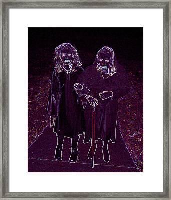 Little Vampires Framed Print by First Star Art