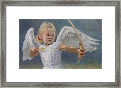 Little Warrior Framed Print by Anna Rose Bain