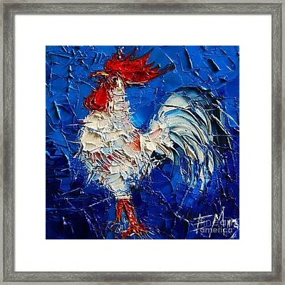 Little White Rooster Framed Print by Mona Edulesco