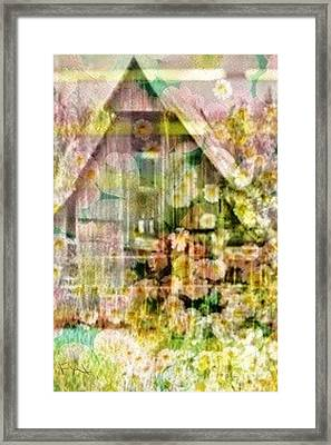 Little Witch Cottage Framed Print by PainterArtist FIN