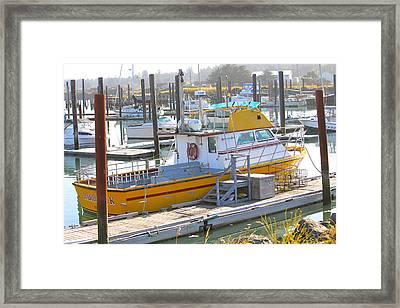 Little Yellow Boat Framed Print by Lisa Billingsley