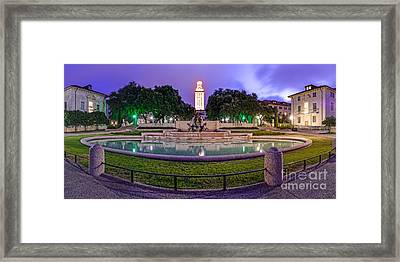 Littlefield Fountain At The University Of Texas In Austin Atx 512 Framed Print by Silvio Ligutti