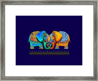 Littlest Elephant Love Links Framed Print by Karin Taylor