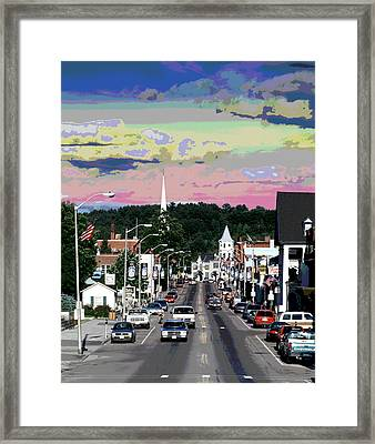 Littleton New Hampshire Framed Print by Charles Shoup