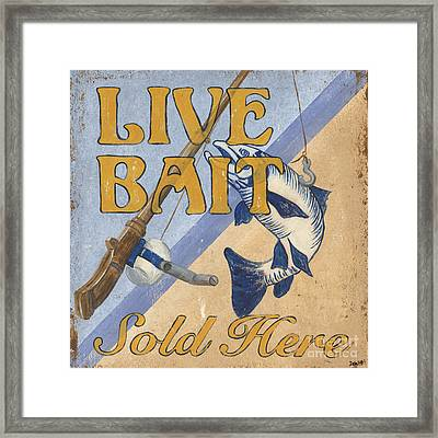 Live Bait Framed Print by Debbie DeWitt