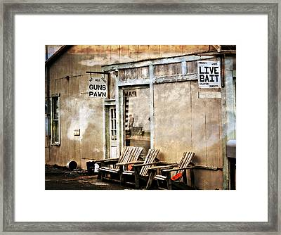 Live Bait Framed Print by Marty Koch
