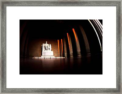 Live By The Light Framed Print by Mitch Cat