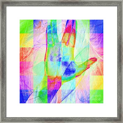 Live Long And Prosper 20150302v1 Color Squares Sq Framed Print by Wingsdomain Art and Photography