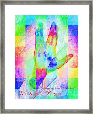 Live Long And Prosper 20150302v1 Color Squares With Text Framed Print by Wingsdomain Art and Photography
