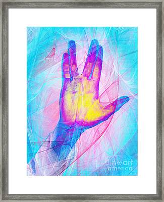 Live Long And Prosper 20150302v1 Framed Print by Wingsdomain Art and Photography