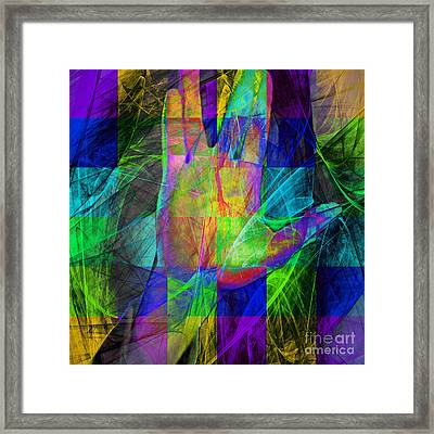 Live Long And Prosper 20150302v2 Color Squares Sq Framed Print by Wingsdomain Art and Photography