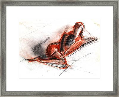 Live Model Study 3 Framed Print by Mona Edulesco
