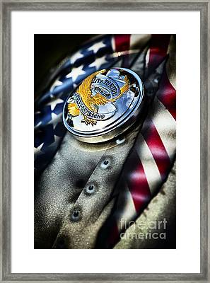 Live To Ride Harley Davidson Framed Print by Tim Gainey