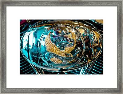 Harley - Live To Ride - Ride To Live Framed Print by David Patterson