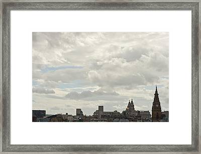 Liverpool Skyline Framed Print by Georgia Fowler