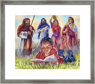Living Bible Framed Print by Tamer and Cindy Elsharouni