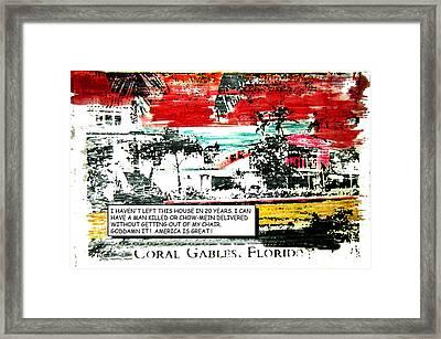 Living In America Framed Print by Blaise Pellegrin