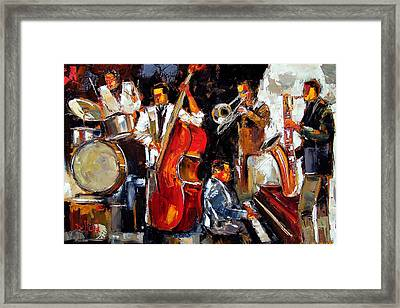 Living Jazz Framed Print by Debra Hurd