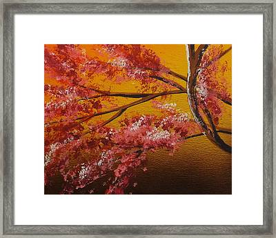 Living Loving Tree Bottom Left Framed Print by Darren Robinson